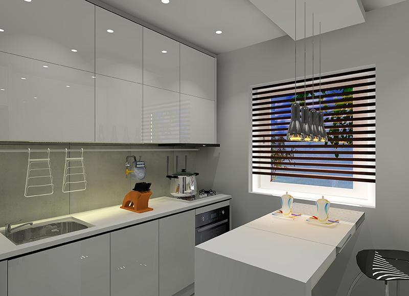 Mała kuchnia w bloku z wielkiej płyty -> Kuchnie Nowoczesne Male W Bloku