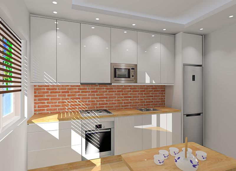 Mała kuchnia w bloku z oknem -> Mala Kuchnia Z Oknem Aranżacje