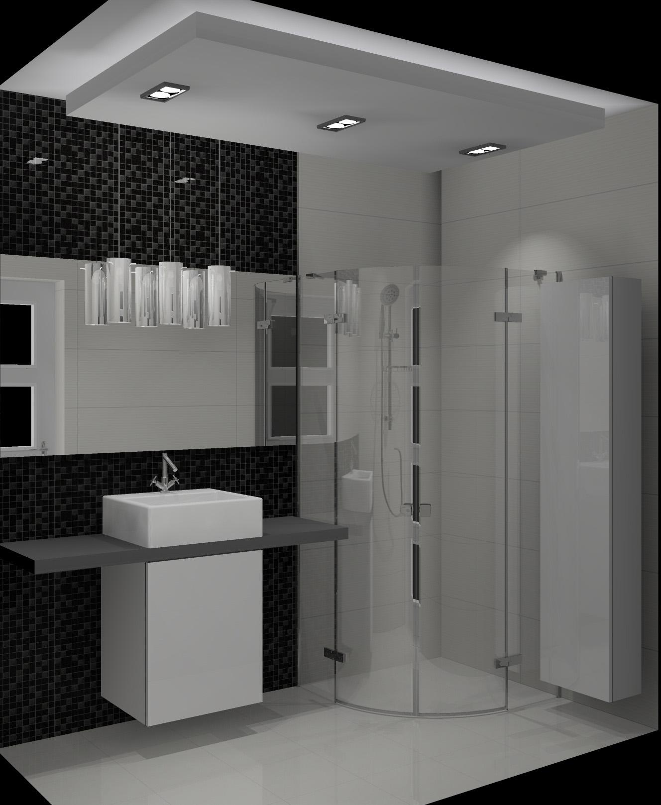 Mała łazienka W Bloku Czarno Biała