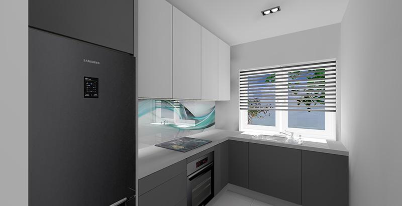 Mała kuchnia w bloku z dużym oknem -> Mala Kuchnia Z Oknem Aranżacje