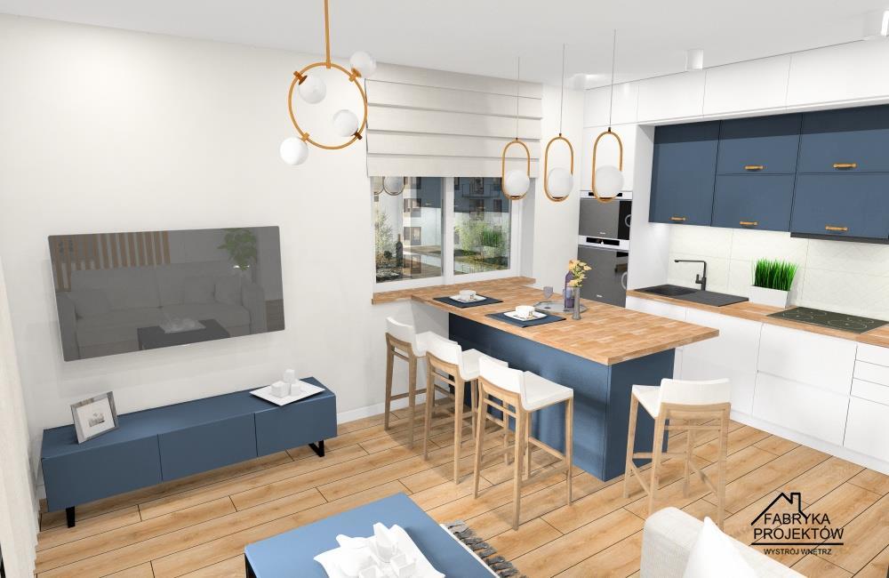 Aranżacja mieszkania 60m2. Projekty wnętrz