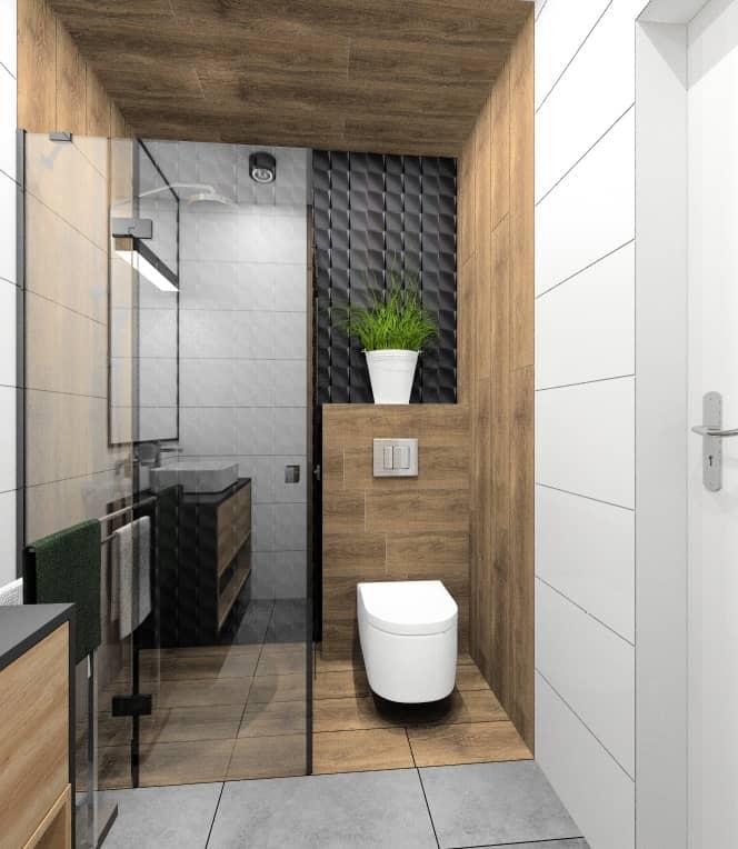 Łazienka 4 m2. Pomysł na aranżacje. Projekt wnętrza