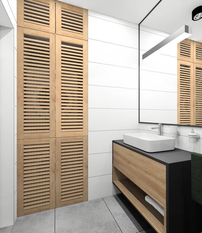Mała łazienka 4 m2