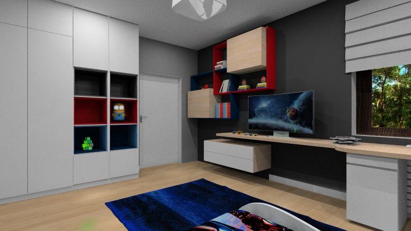 System przechowywania w pokoju dziecka, regał, szafa, półki otwarte, szuflady, miejsce na zabawki