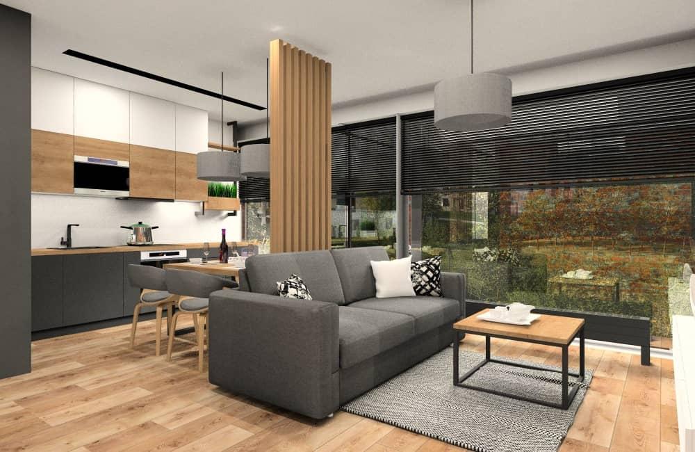 Aranżacja mieszkania w bloku 70 m2, piekne, funkcjonalne ciepłe, przytulne wnętrze