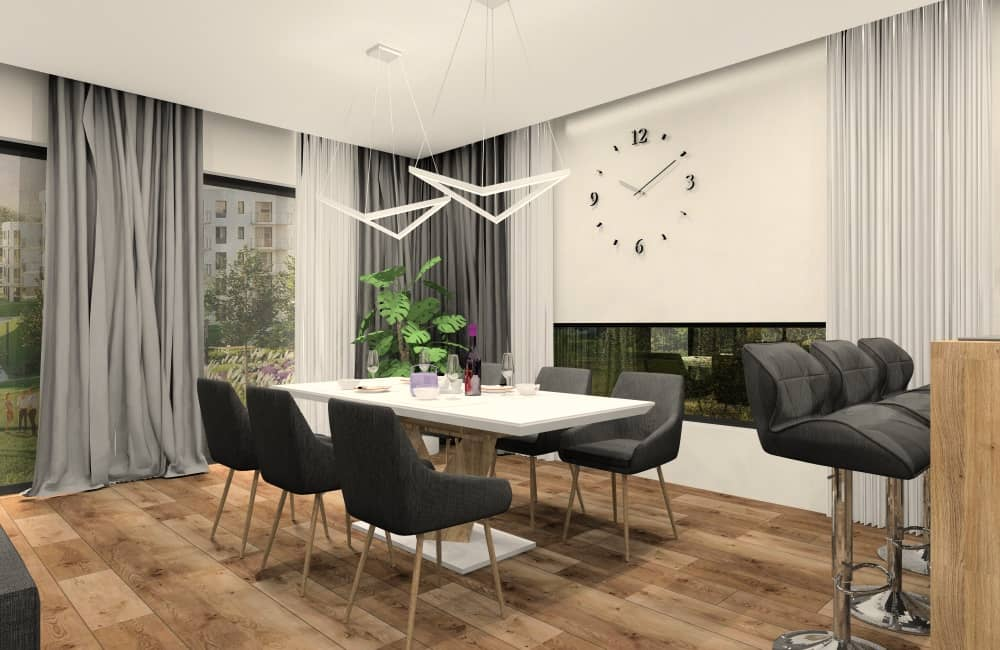 Aranżacja salonu połączonego z kuchnią. Sposób na projekt wnętrza