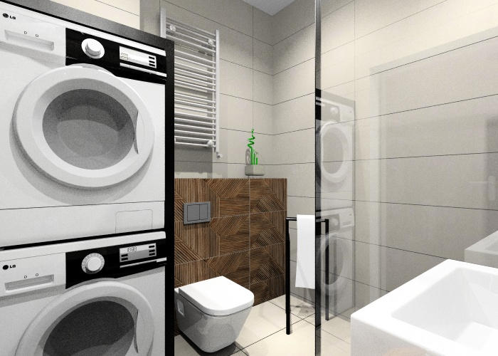 Co wybrać na ścianę w łazience w stylu industrialnym? płytki imitujące beton, płytki imitujące drewno