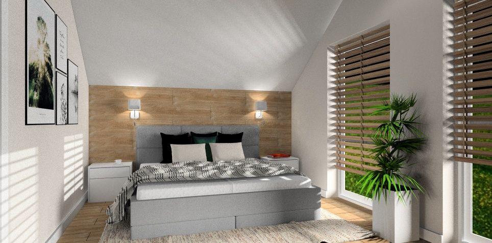 Co z podłoga w małym mieszkaniu?! , panele podłogowe na ścianie w sypialni