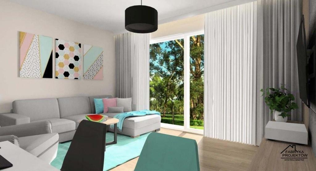 Salonu, dekoracja ściany w mieszkaniu, plakaty na ścianie, poduszki w kolorze pastelowym, dywan w kolorze pastelowym