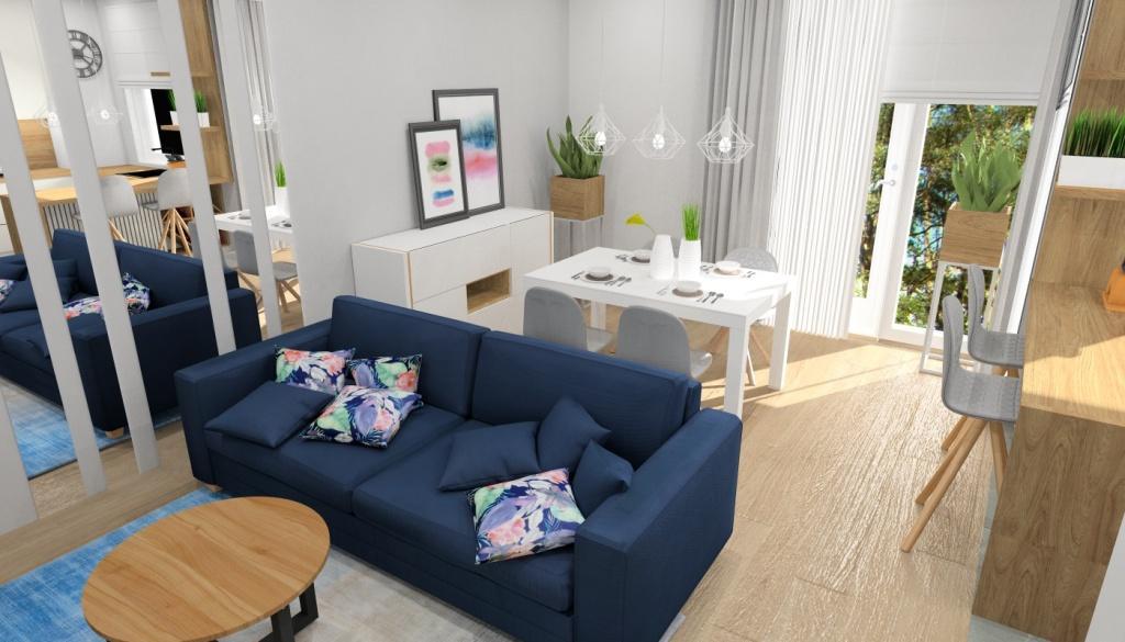 Doddatki optycznie powiększające wnętrze - lusta w salonie, lampy