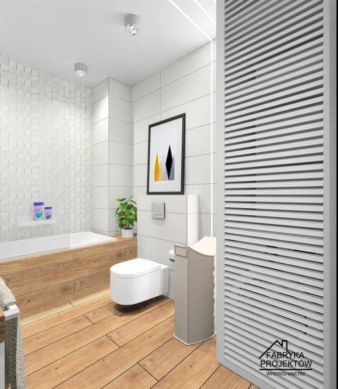 Łazienki z pralką. Sposoby na urządzenie - projekty wnętrz
