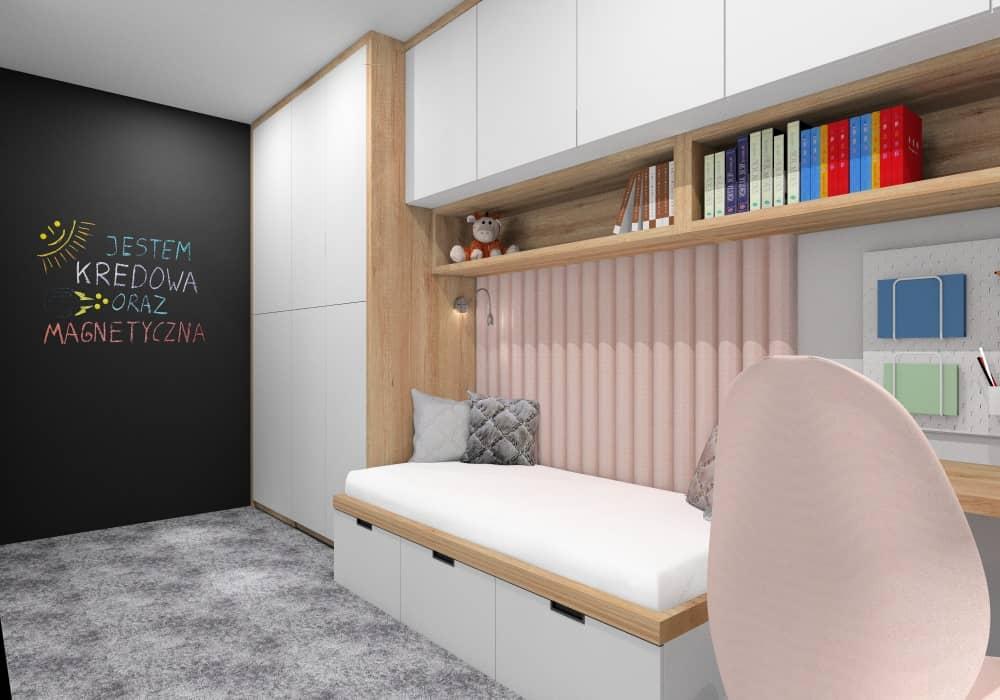 Panele tapicerowane w pokoju dziecka, panele różowe