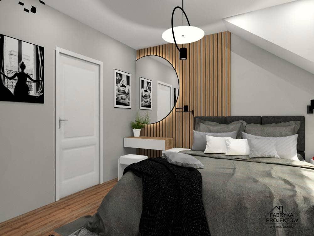 Sypialnia z toaletką. Projekty wnętrz, inspiracje