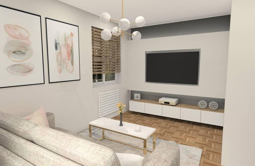 Salon 24m2. Jak urządzić? inspiracja i projekt wnętrza