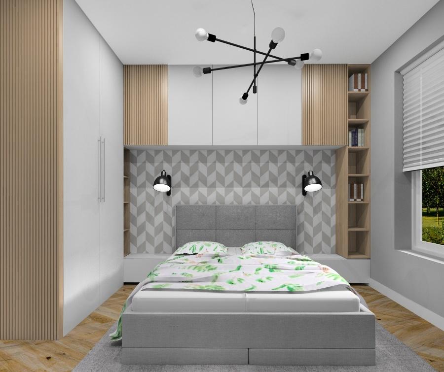 Sypialnia, kolory w sypialni, ciepłe naturalne, dodatki, tapeta, oświetlenie, poduszki, narzuta