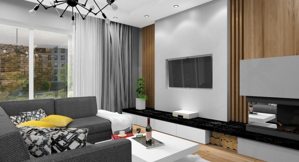 Salon, urządzenie mieszkania: aranżacja i dekoracje ścian i podłoga
