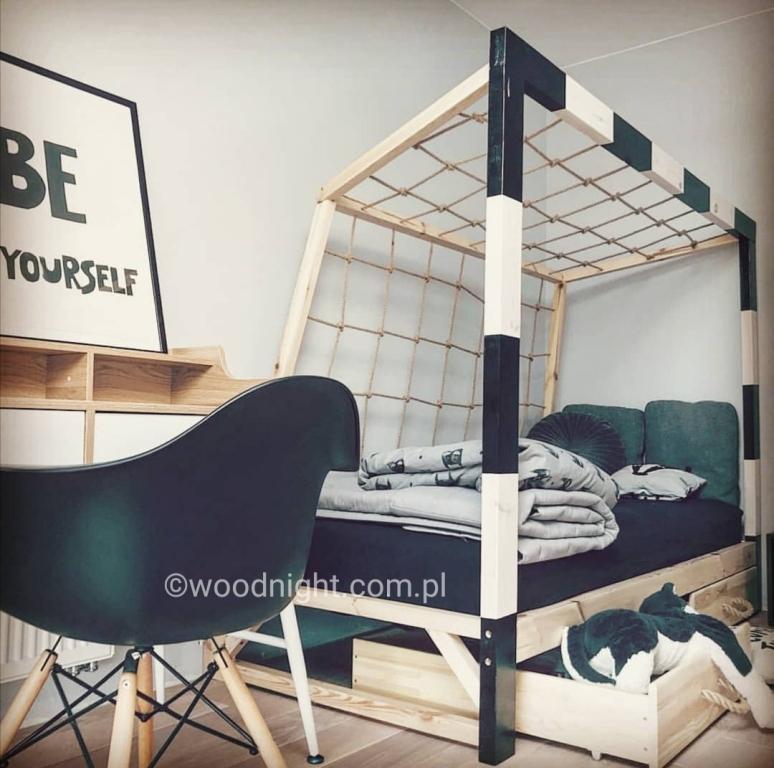 Łóżko bramka do pokoju chłopca, pokój piłkarski dla chłopca