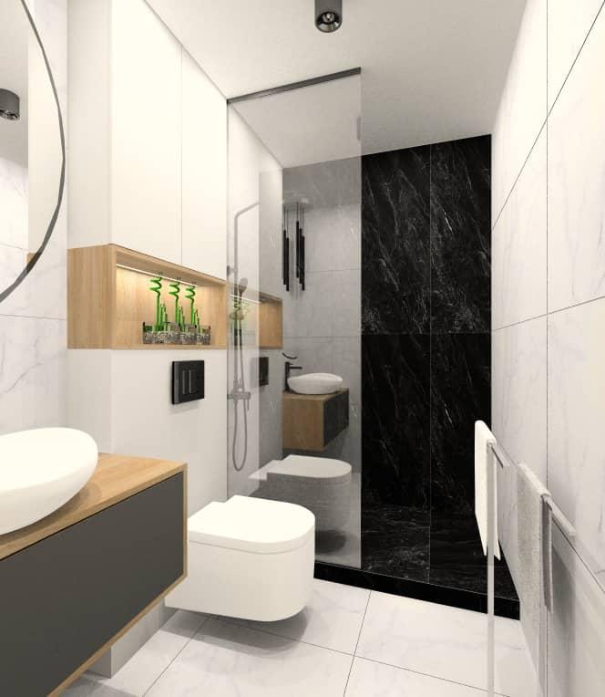 Mała, wąska łazienka z prysznicem. Jak ją urządzić ?