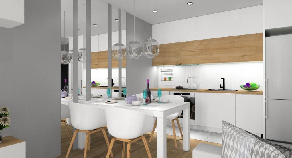 W jakich kolorach urządzić mały salon z aneksem kuchennym?