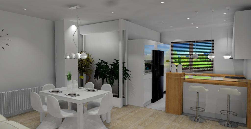 Projekt salonu z aneksem kuchennym -> Aranżacja Salonu Z Kuchnią W Bloku