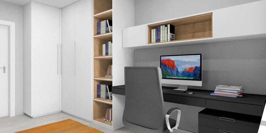 Mały pokój w mieszkaniu: Pomysł na domowe biuro w mieszkaniu