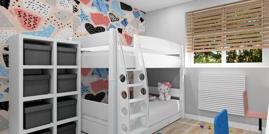 Pokój dla rodzeństwa: Dziewczynka i chłopiec w jednym pokoju