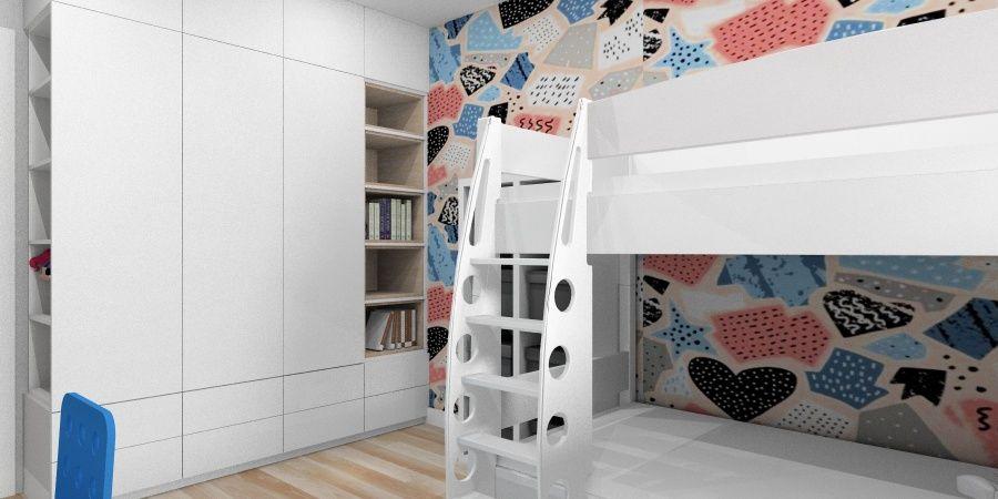 Przechowywanie w pokoju dziecięcym. Funkcjonalny pokój dla rodzeństwa.