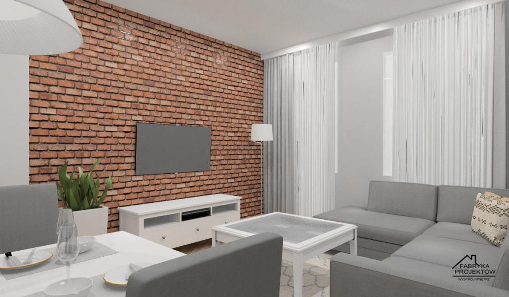 Pomysł na pokój dzienny, salon w bloku