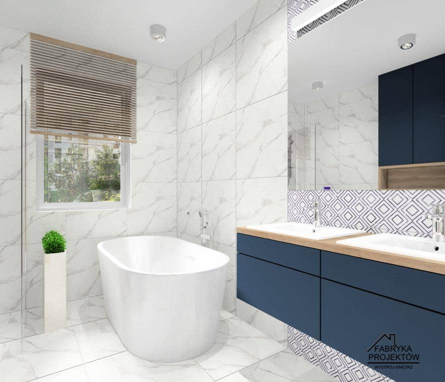 Łazienka: Z czym łączyć marmur? projekty łazienki, pomysły projektanta