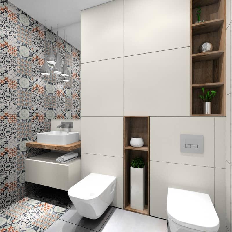 Płytki patchwork w aranżacji łazienki