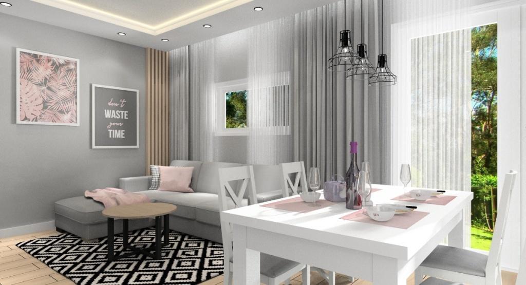 Salon w stylu skandynawskim- aranżacje wnętrz