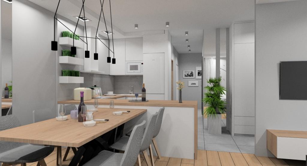 Salon z kuchnią, aranżacja kuchni otwartej na salon