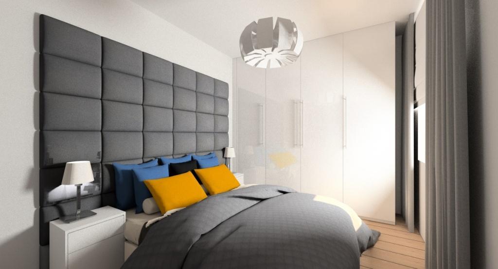 Sypialnia, aranżacja w nowoczesnym stylu