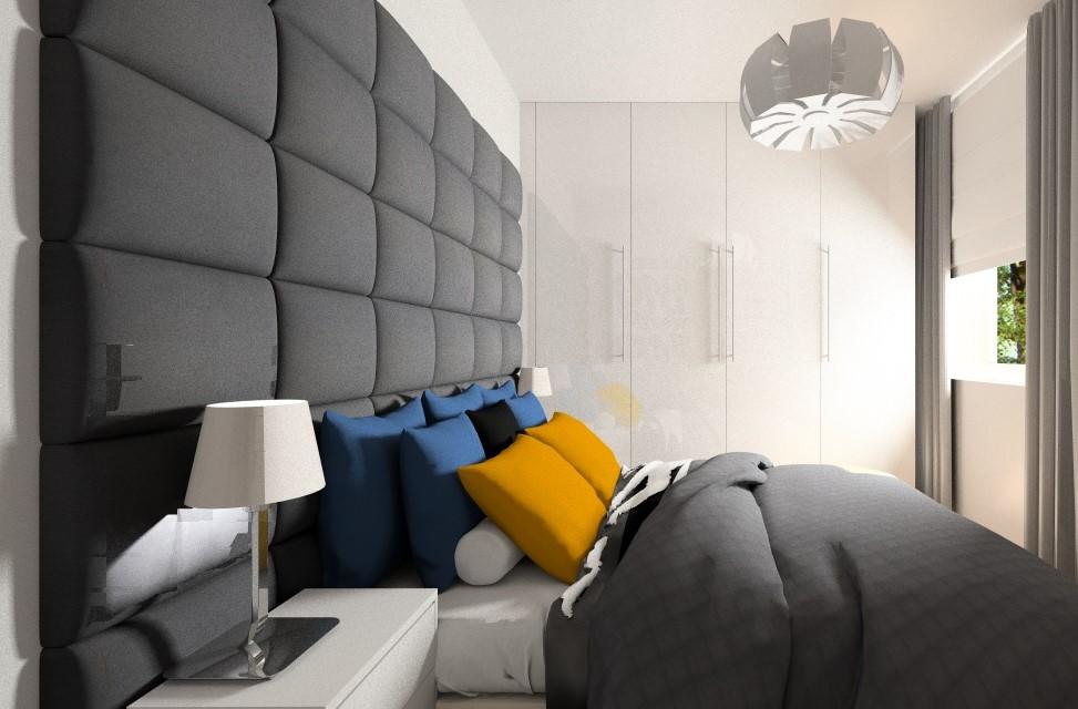 Wnętrze w stylu nowoczesnym: sypialnia