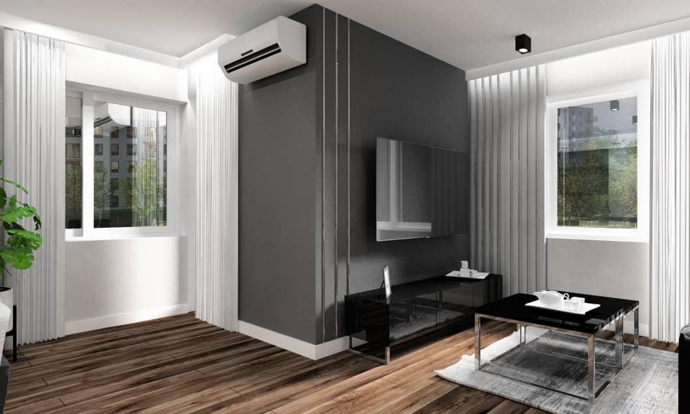 Mały salon, salon otwaty na kuchnię, pomysł na aranżację i projekt wnętrz