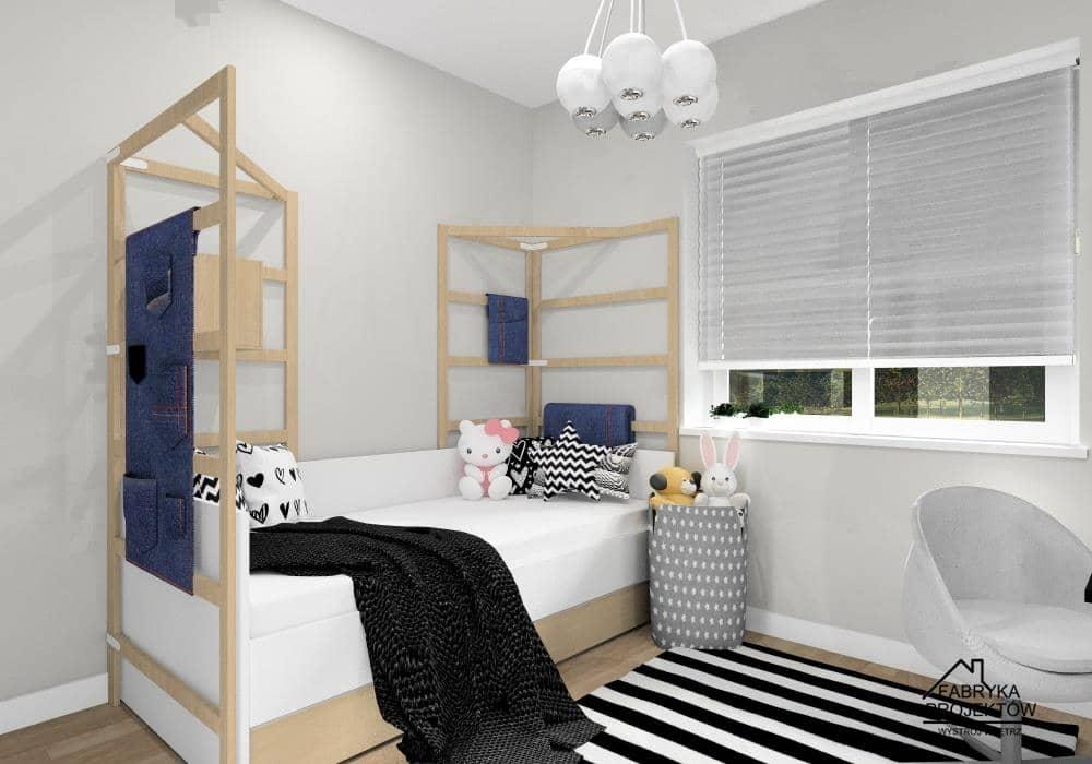 Ciekawy pomysł na łóżko w pokoju dziewczynki: łóżko z drabinkami
