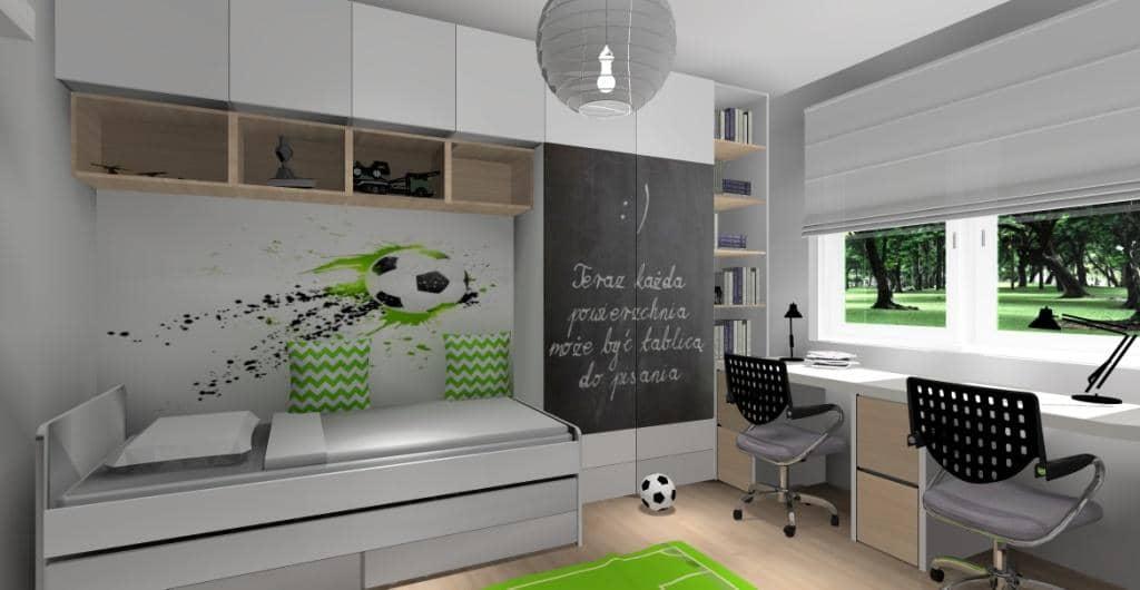 Ściana za łóżkiem w pokoju dziecięcym