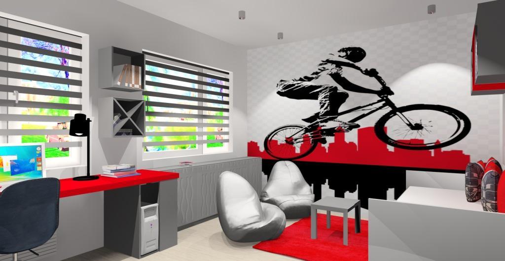 projekt pokoju nastolatka, nowoczesne wnętrze