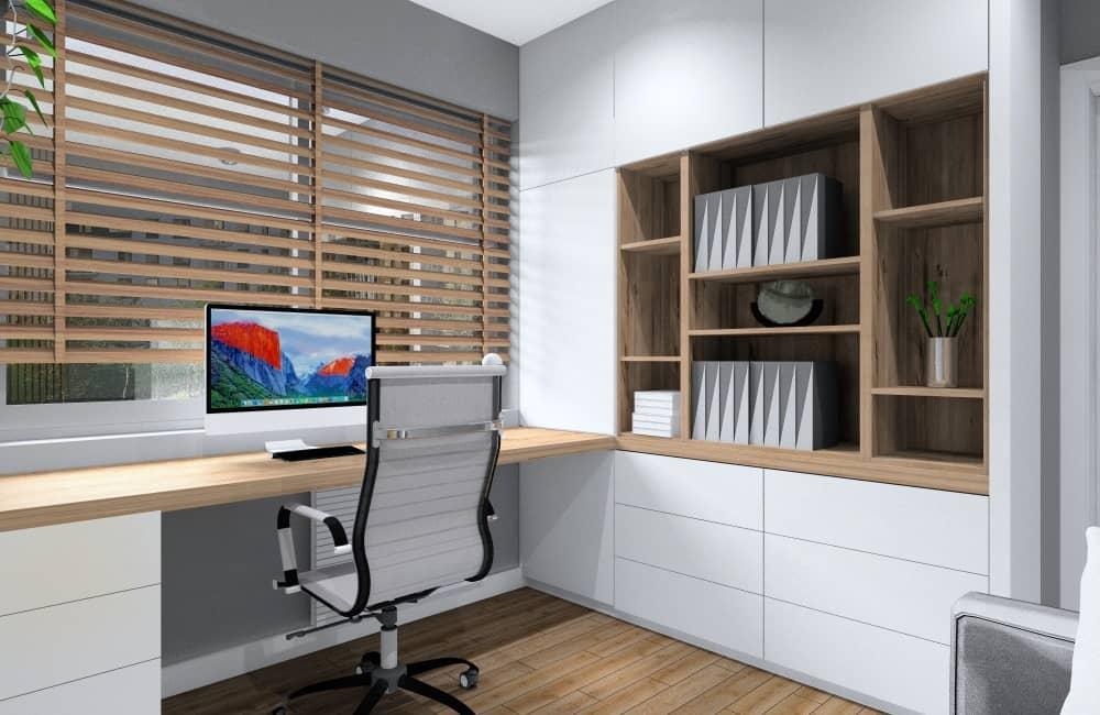 Biurko, gabinet w domu, miejsce do pracy w domu