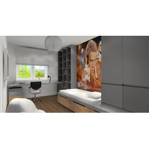 Projekt mieszkania 60 m2 w Warszawie