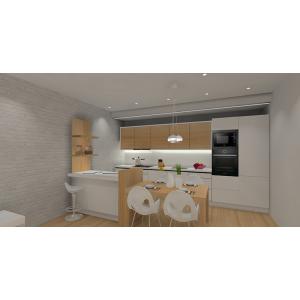 Projekt salonu z kuchnią styl skandynawski
