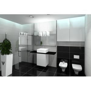 Nowoczesna łazienka biało-czarna