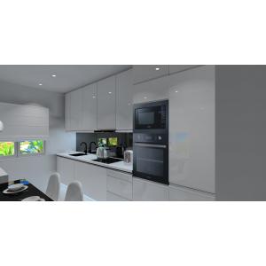 salon z aneksem kuchennym w bloku
