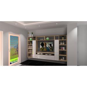 aranżacja salonu, nowoczesne wnętrz, płytki w salonie czarne