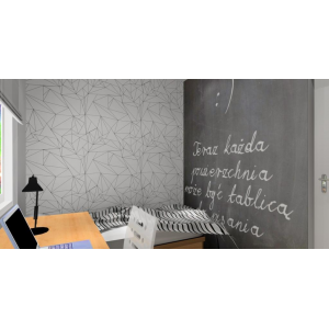 Mały pokoik dziecięcy, tablica kredowa w pokoju, tapeta nowoczesna,