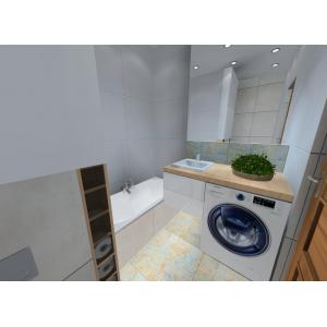 projekt łazienki, wnętrze nowoczesne