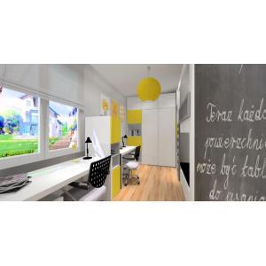 Przykladowy projekt pokoju dla dziecka w stylu nowoczesnym