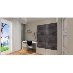 Projekt pokoju dla chłopca styl skandynawskiw kolorach biały, drewno, szary