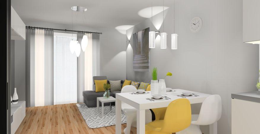 Salon i mieszkanie w stylu skandynawskim
