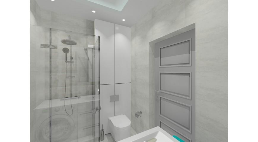 łazienka Szaro Biała